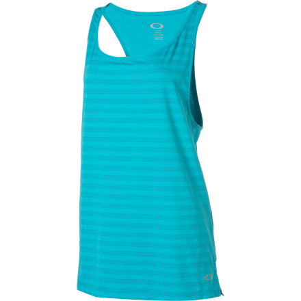 Fitness Slide on the loose-fitting, comfortable Oakley Women's Muscle Girl Tank Top whether you're hitting the gym, the pool, or the lawn chair. - $38.00
