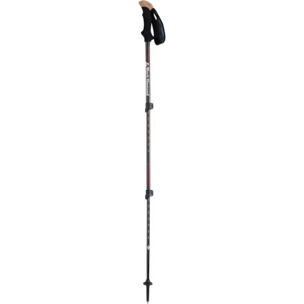 Camp and Hike The Black Diamond Alpine Carbon Solo Trekking Pole will add the support, balance, and power you need to take on arduous steeps, but they won't add very much weight. The feather-light pole utilizes high-tech materials to create a strong, solid pole that won't feel like lead in your hand. - $62.97