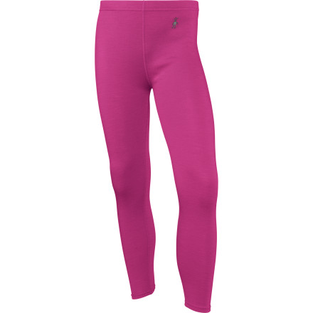 The Smartwool Girls Midweight Bottom provides superior warmth for your snow aficionado whether shes sledding with her little brother or schooling you on the slopes. This Smartwool base layers merino wool fabric not only pulls moisture away from the skin before it has a chance to chill her, but is also naturally odor-resistant. - $54.95