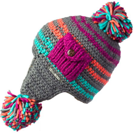 Surf Billabong Sherbert Earflap Pom Beanie - Girls' - $25.95