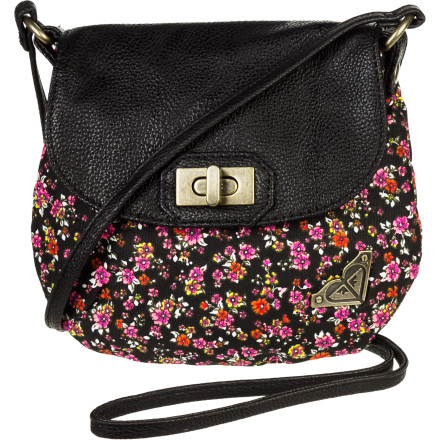 Surf The Roxy Girls' Sweetness Purse has the classic, feminine style, replete with flap and turnlock closure, but with modern feel of a Roxy crossbody. Sling it on and feel its casual cool and classy sass. - $25.08
