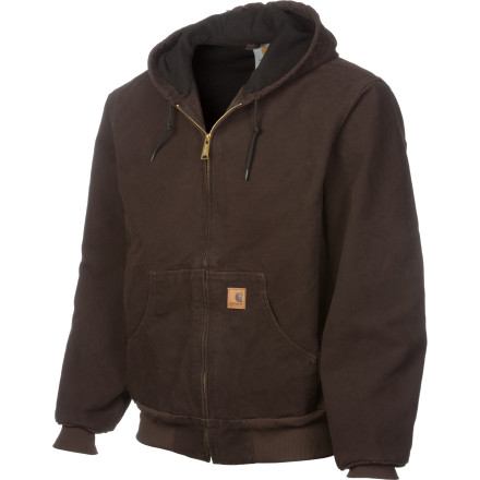Camp and Hike The Carhartt Men's Sandstone Active Jacket has a rugged build and hard-working appeal that's made for men who take outdoor jobs seriously. Pull on this cold-weather jacket and dig a ditch, build a house, or crawl under your truck ... just because you feel like it. - $79.95