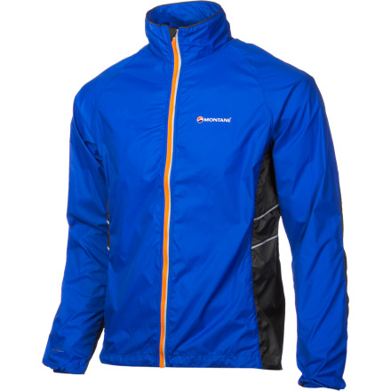 Fitness Zip up the Montane Mens Featherlite Marathon Jacket and wear a jacket you can count on mile after mile. Designed by runners for runners, this wind-resistant and water-repellant jacket provides essential features in a streamlined package. Montanes Enhanced Breathing Panels pump up the ventilation to keep you cool. An active cut, drop tail hem, and articulated arms add to the Marathons performance and comfort. Stash away this 4oz functional gem in the included stuff sac when the weather warms up. - $88.95