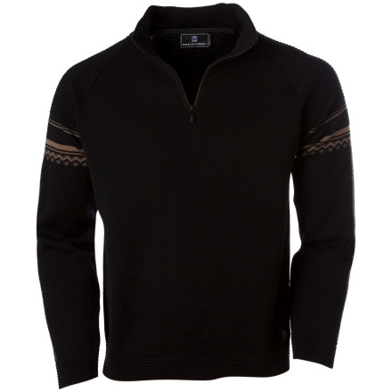 Ski Whether you wear it under a ski  jacket, to the bar, or at Thanksgiving dinner with your in-laws, the Dale of Norway Men's Aktiven Sweater is sure to impress. Made from quality merino wool, the Aktiven sweater inherently has the ability to stretch for comfort and provide warmth in variable weather conditions. - $209.27