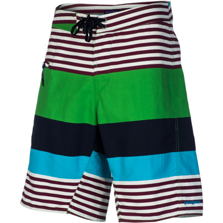Surf From crisp Costa Rica surf to steaming Bishop hot springs, pull on the Patagonia Men's Wavefarer Board Short for aquatic adventure. A DWR finish keeps the shorts light when you're out paddling and the forward-facing inseam ensures you'll stay chafe-free. - $59.00