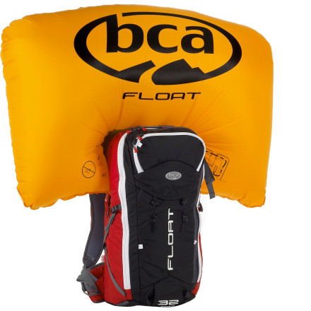 Ski Skiing in the backcountry comes with the inherent risk of exposure to avalanche terrain. Should you find yourself caught in a slide, the BCA Float 32 Airbag Backpack is a tool that offers a drastically increased chance of survival. Pull a trigger on the shoulder strap, and a highly durable airbag quickly inflates behind your head, decreasing your odds of burial in avalanche debris by increasing your overall buoyancy. Even with this technology, the Float Backpack still offers all the storage you need for your shovel, probe, goggles, and other gearhere's to the evolution of safety beyond the rope. - $550.00