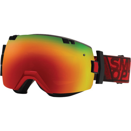 Ski The Smith IOX Interchangeable Goggles push the limits of what goggles can do. Huge peripherals and fog-free vision are packed in with unique space-age style. When you're dropping from the summit, these techy lenses auto-adapt to altitude changes to stop fog ups. Plus, when you're chatting up that hot thing at the midway bar, the I/OX are sure to memorize. - $174.95