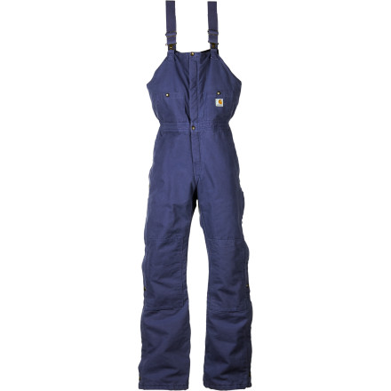 Lessen the pain of having to get up early and leave the house on a cold morning by pulling on the Carhartt Women's Sandstone Quilt-Lined Bib Overall. Whether you're tending to animals, clearing the driveway, or even spending the day working outdoors, this rugged canvas overall with cozy quilted lining keeps you warm and happy. Well, at least happier. - $71.99