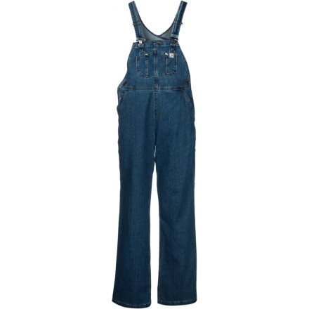 Entertainment Your most serious chores and work call for the Women's Denim Bib Unlined Overall from Carhartt. Highly durable yet flexible enough to give you the freedom to move, this bib accompanies you on four a.m. trips to the welding shop, on late-afternoon fence-fixing missions, or on evening trips to muck the horse stall. Carhartt is an iconic brand that makes legendary work wear, and these bibs are the evolution of the classic, tough-as-nails denim bibs. - $42.39