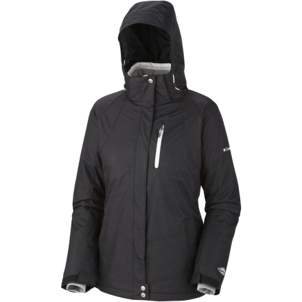 The Columbia Women's Whirlibird Interchange Jacket is ready for ever-changing mountain conditions. Bluebird at the base and blower at the top' No worries. The removable liner's thermal reflective lining and Omni-Heat insulation bring the warmth when you need it. - $126.47