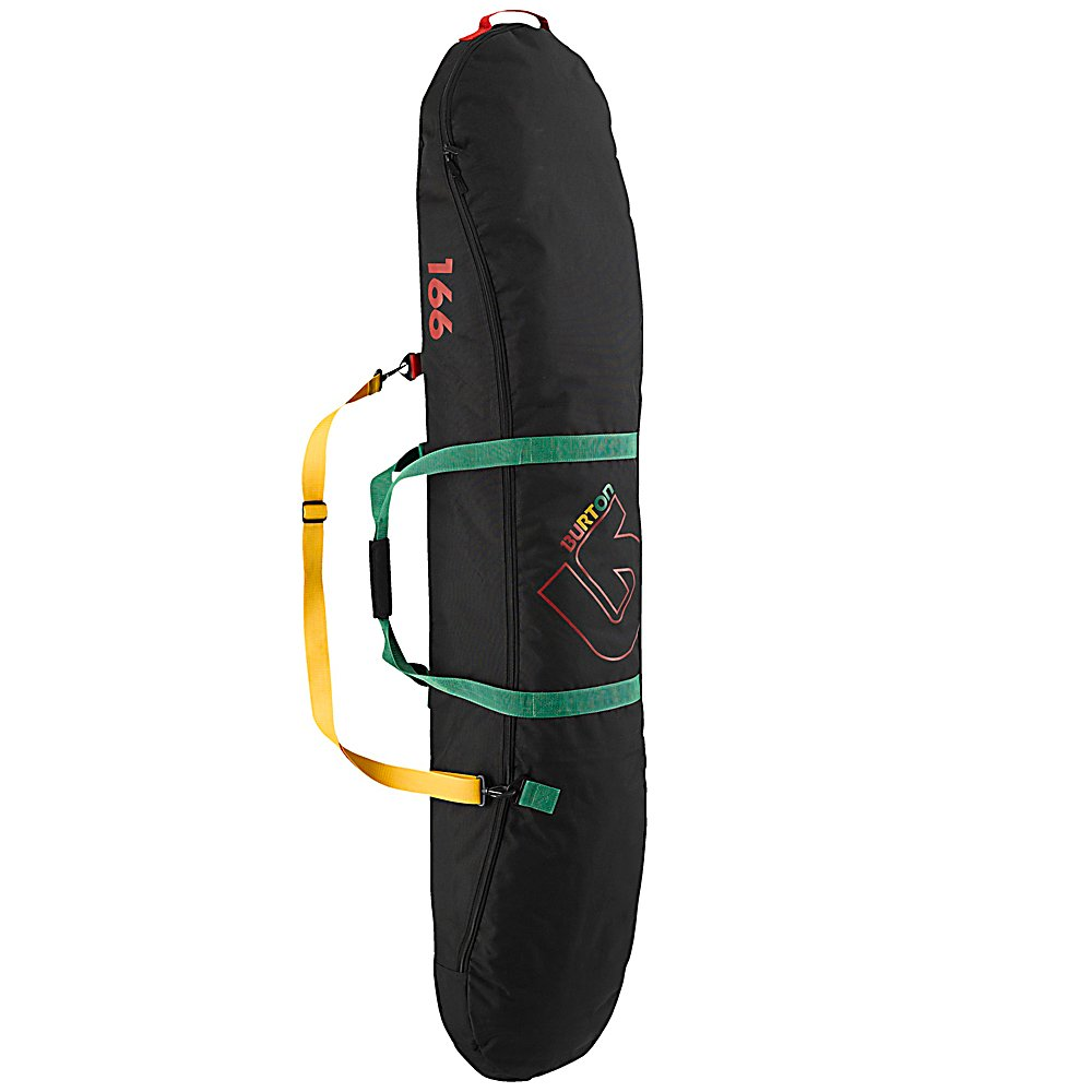 Snowboard Burton Kids Space Sack Snowboard Bag - The Burton Space Sack is an apartment for your snowboard. Protect your base and your car with the Space Sack. 600D Polyester is super durable and can withstand having a snowboard slide around in it without causing damage. Room for multiple decks without bindings. The Burton Space Sack is the perfect board transportation to the hill or on small flights, durable board protection on the inside with a removable shoulder strap. . Material: 600D Polyester, Exterior Pockets: No, Padded Inside: No, Size Dimensions: 132cmx36cmx18cm(129cm), ID Tag: No, Max Board Size: 129cm, Model Year: 2013, Product ID: 272623, Shipping Restriction: This item is not available for shipment outside of the United States. - $44.99