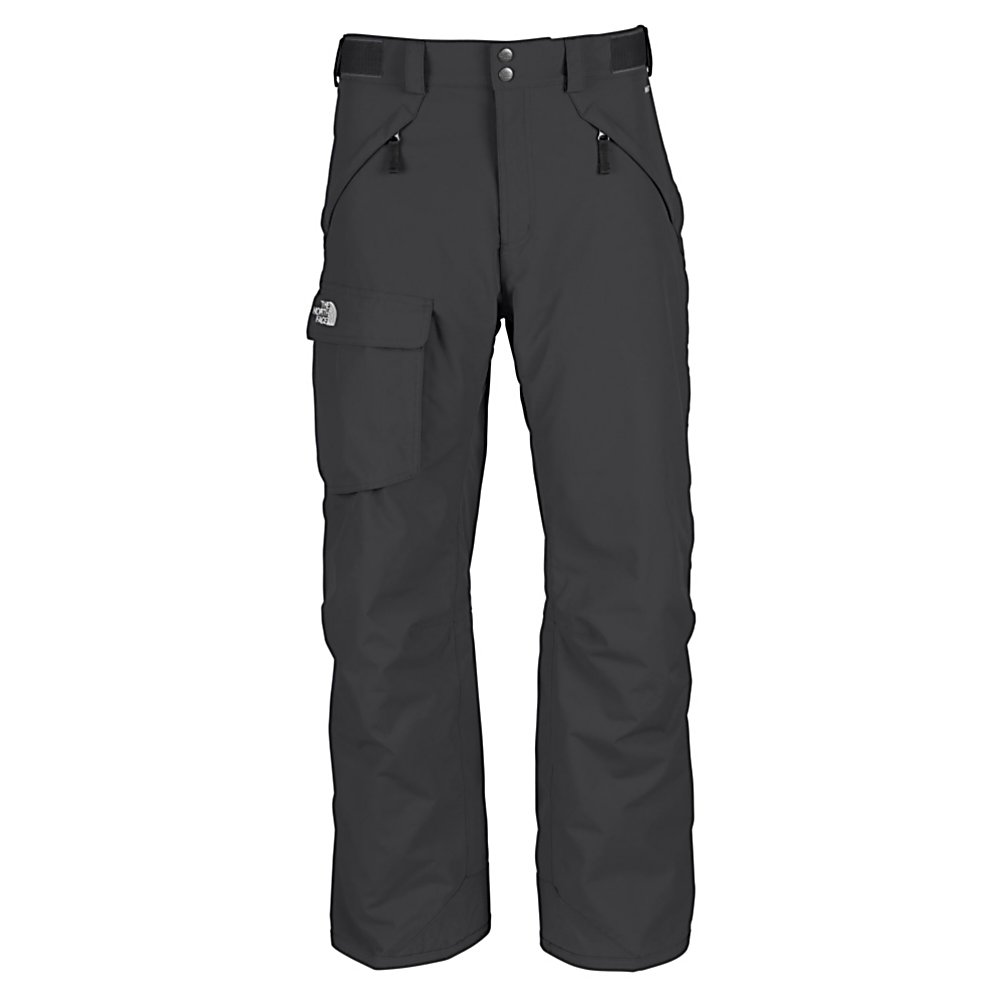 Ski The North Face Freedom Short Insulated Mens Ski Pants - The free-fitting North Face Freedom Mens Insulated Ski Pants offer a relaxed, contemporary fit cut generously through the seat, thighs, knees and cuff. Providing maximum mobility, flexibility and a smooth easy style you'll have the freedom to take these pants skiing or snowboarding. With Heatseeker Eco Insulation, you'll find these pants to be highly compressible, extremely durable and are not bulky. The Freedom Insulated Pants are high-performance and designed to be durable, waterproof and breathable. Its HyVent 2L Foxfaille Shell utilizes a polyurethane coating for waterproof protection, moisture permeability and durability. When you're working up a sweat and need a little cooling, the Chimney Venting System is there for you dramatically improving air flow which reduces heat and humidity and greatly improves breathability so you have increased comfort and performance. These pants are made with a shorter leg length for the shorter fella. One of the best ski pants out there packed with North Face's finest technology, the Freedom Mens Insulated Ski Pant is sure to keep you warm and comfortable every day on the mountain. Features: Chimney Venting System, Reinforced Cuff. Exterior Material: HyVent 2L Foxfaille, Softshell: No, Insulation Weight: 60g, Taped Seams: Fully Taped, Waterproof Rating: 17,600mm, Breathability Rating: 800g, Thigh Zip Venting: Yes, Suspenders: None, Articulated Knee: No, Cargo Pockets: Yes, Warranty: Lifetime, Race: No, Waterproof: Moderately Waterproof (5 - $127.99