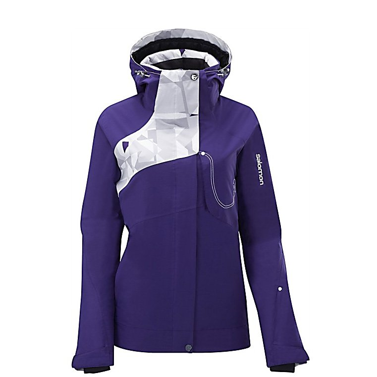 Ski Salomon Reflex Womens Insulated Ski Jacket - The Salomon Reflex Jacket sports a relaxed fit for the free skiers and aggressive skiers alike. Featuring symmetrical lines to create a flattering fit. When you're looking for a waterproof breathable jacket that is going to keep you warm and dry on the stormiest of days on the slopes, the Salomon Women's Reflex Jacket is one of those no-brainer choices. Between its eye-catching style and its impressive array of features and technology, you're good to go. Features: Jacket-to-pant connection, Lycra cuff with thumbholes. Breathability Rating: 10,000g, Hood Type: Removable, Pit Zip Venting: Yes, Pockets: 4-5, Electronics Pocket: Yes, Goggle Pocket: No, Powder Skirt: Yes, Hood: Yes, Warranty: Lifetime, Breathability: High Breathability (9000g-15,000g), Cuff Type: Velcro, Wrist Gaiter: No, Waterproof Zippers: Yes, Cinch Cord Bottom: No, Insulator: No, Model Year: 2012, Product ID: 266570, Waterproof: Moderately Waterproof (5000mm-19,999mm), Insulation Type: Synthetic, Length: Medium, Cut: Regular, Type: Insulated, Rain Jacket: No, Race: No, Battery Heated: No, Use: Ski, Waterproof Rating: 10,000mm, Taped Seams: Fully Taped, Insulation Weight: 100g, Softshell: No, Exterior Material: Climapro - $159.95