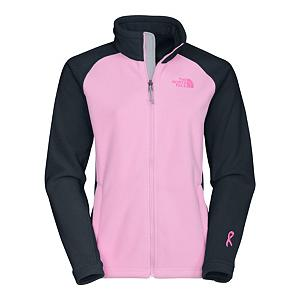 Snowboard The North Face Pink Ribbon Khumbu Fleece Womens Jacket - The North Face Khumbu Jacket says it all with its name derived from the region notorious for spectacular mountain peaks, The Khumbu Jacket is ideal to sport on cool to cold-weather journeys. Made with a durable, midweight TKA 300 fleece, this versatile fleece jacket offers protection for a range of activities. This fleece is a zip-in compatible with The North Face outerwear for additional coverage. Boarding for Breast Cancer is a non-profit, youth focused education, awareness and fundraising foundation. Recognizing the importance of this mission, The North Face has teamed up with them to create a unique collection of stylish, high performance fleece and will make an annual donation to help support their journey to educate and inspire young adults. Features: Two hand pockets. Hood: No, Warranty: Lifetime, Model Year: 2013, Product ID: 231140, Shipping Restriction: This item is not available for shipment outside of the United States., Pockets: 1-2, Wind Protection: Yes, Type: Full Zip Top, Fleece Weight: Mid, Insulation Weight: 300g - $90.00
