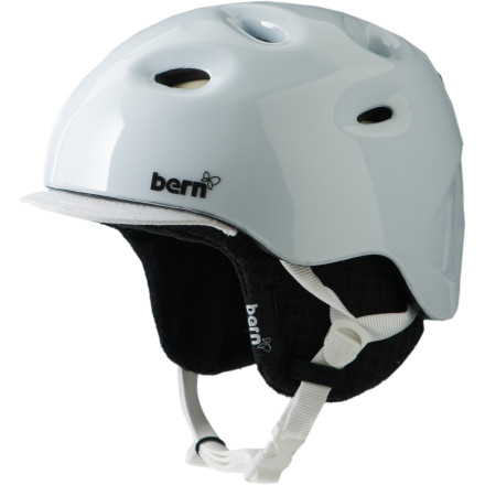 Snowboard College is an expensive investment, so, when you ride, protect all that precious knowledge by rocking the Bern Women's Cougar II Helmet. Powerful Zip Mold hard foam shields your dome from a sudden impact, and its sleek, low-profile design won't make you look like a total egghead. - $69.97