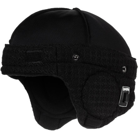 Entertainment Bern's Adjustable Audio Black Knit Helmet Liner features built-in speakers and hand-sewn construction. They aren't homemade, but Grandma would never have installed electronics. - $44.96