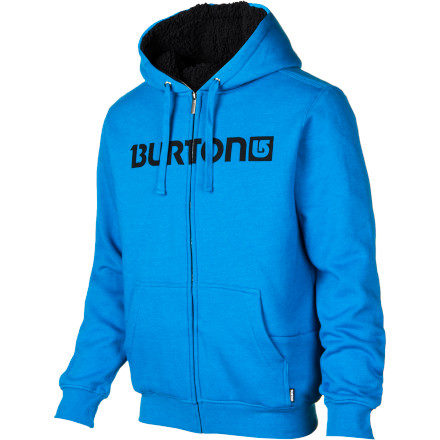 Snowboard The Burton Men's Fireside Full-Zip Hooded Sweatshirt makes your old favorite hoodie felt cheap and ineffectual. That's OK; the Fireside's 280g weight and sherpa lining let your whole closet know that there's a new fleecy sheriff in town. - $52.46