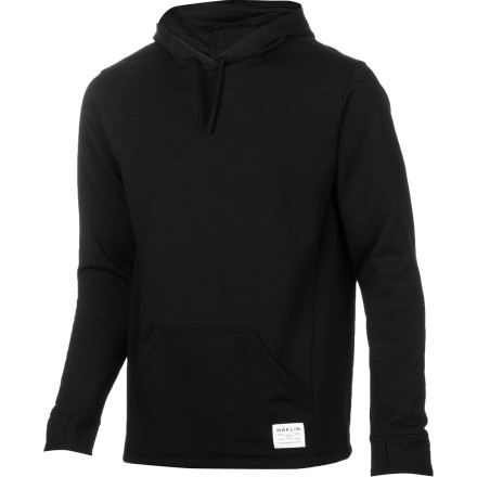Camp and Hike When the weather is fair and you have a long hike ahead of you, stash your shell in your bag and take on the trek in the Naklin Jawbone Winterweight Men's Hooded Top. It features polyester to wick sweat away from your skin to keep you dry on the ascent and merino wool, which has a high warmth-to-weight ratio and is highly breathable so you stay at a comfortable temperature on the way up and down. If a sudden storm blows in, the Jawbone works as a cold-weather layering piece complete with a hood, thumb holes, and a built-in face gaiter. - $67.17