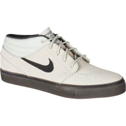 Skateboard The Nike Zoom Stefan Janoski Mid Skate Shoe must mean that Senor Stefan must also like to wear a mid while he pushes around on his trusty board. The Zoom Stefan Janoski Mid brings the same low-profile wrap and durable material as his namesake low kicks, just adds a little extra support around the ankles. - $84.95