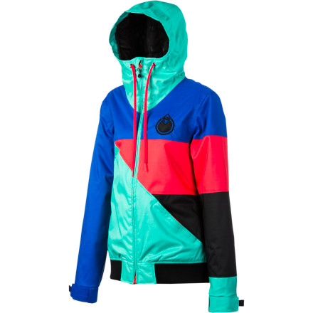 Snowboard With light insulation and 10K-rated waterproof fabric, the Nomis Women's Stacey Jacket keeps you dry and warm without a bulky or over-the-top teched-out look. Don't let the style fool you, though, Nomis designed the Stacey for the mountain, not the runway. - $159.96
