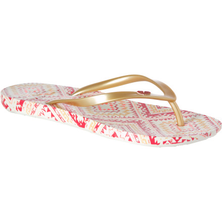 Surf The soft PVC uppers on Roxy's Cabana Sandals won't dig into the tops of your feet like those cheapo drugstore numbers. And that's a bonus because you need your feet for a summer of surfing. - $9.60