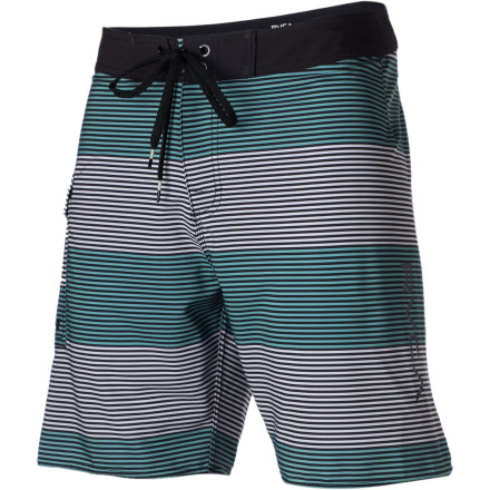 Surf With a tailored fit, shorter-than-usual length, and alternating stripes, the RVCA Civil Stripe 18in Board Short is comfortable in the water and stylish on land. Performance stretch material and a pocket to stow things in make it even more fun. - $53.96
