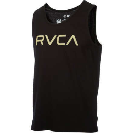 Surf 'Big RVCA' totally sounds like some O.G. who intimidates everybody on the block. 'Aww shit, tuck yo chain son, Big RVCA's comin'.' But it's actually just the name of this super-comfy cotton tank. - $17.56