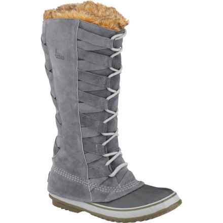 Wake Once you put on the Sorel Women's Cate of Alexandria Boot you may never take it off again. It will be as if your foot had a dream, and it came true. A majestically tall boot with faux-fur trim and waterproof leather upper repels the wet stuff and provides warmth. There's a removable felt liner that you can wear on its own in a chilly cabin and vulcanized rubber shell that peeks out at the forefoot. Don't wake up, foot. - $161.97