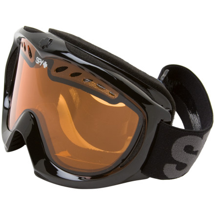 Snowboard Flip down the Spy Targa II Goggle and take this standard issue goggle all over the mountain. This solid goggle features a flexible frame that conforms to most faces. Spy's Scoop ventilation system eliminates lens fogging to help you see obstacles and jibs more clearly. Dual lenses with total UV protection and anti-fog and anti-scratch protection make sure you clearly spot your landings. The Spy Targa II's dual-adjustment strap makes sure you find the right fit. Spy added silicone ribbing to the strap to ensure a secure fit. - $23.97