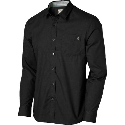 Skateboard Meeting your girl's parents sounds about as fun as mixing your eye drops for super glue. The Volcom Ex Factor Solid Long-Sleeve Shirt comes in handy for those times when you need to pretend to have your shit together. - $26.97