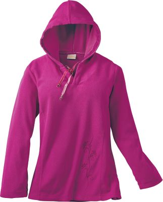 Skin-pleasing softness teams with a shape-flattering fit in an affordable hoodie with flair. Cut in an eye-catching slim fit with princess seams, it's crafted of cozy 100% polyester microfleece. Machine washable. Imported. Sizes: S-2XL.Colors: Cobalt, Raspberry. - $16.88