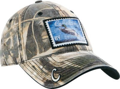 Hunting This cap has a duck stamp patch on the front and a Cabelas C embroidered on the bill. Embroidered Cabelas logo above adjustable hook-and-loop closure. Black stitching. One size fits most. Imported.Camo pattern: Realtree MAX-4. Type: Caps. Size: One Size Fits Most. Camo Pattern: MAX 4. Size One Size Fits Most. Color Max 4. - $6.88