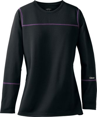 Solid warmth with plenty of breathability, the medium-weight MTP base layer makes an ideal choice for a wide range of cool-weather activities. 100% polyester pique is supple against the skin, yet provides incredible warmth and durability. Flatlock stitching for reduced chafing. Imported. Center back length for size Medium: 26-1/2. Sizes: S-2XL. Color: Black. Size: Medium. Color: Black. Gender: Female. Age Group: Adult. Pattern: Solid. Material: Polyester. - $13.49