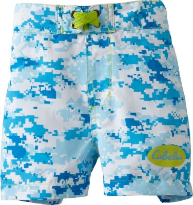 Surf Perfect for the pool or a day at the lake. Adjustable waist ensures a secure, comfortable fit. 100% polyester construction dries quickly. Imported. Sizes: S-XL, 2T, 3T, 4T. Colors: Aqua/Aqua Digi., Pink/Pink Camo. Size: 2T. Color: Aqua/Aqua Digi. Gender: Female. Age Group: Kids. Pattern: Camo. Material: Polyester. Type: Swim Bottoms. - $9.88