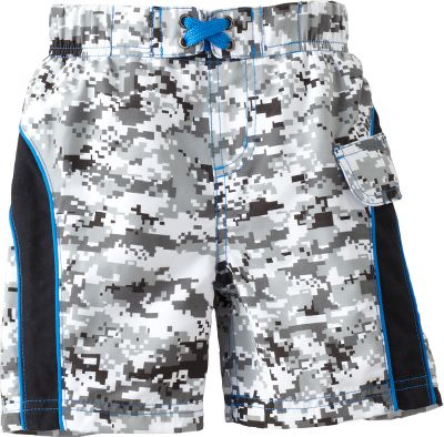 Surf Perfect for the pool or a day at the lake. Adjustable waist ensures a secure, comfortable fit. 100% polyester construction dries quickly. Imported. Sizes: S-XL, 2T, 3T, 4T. Colors: Black Digi Camo, Brown Camo (not shown). Size: Small. Color: Brown Camo. Gender: Female. Age Group: Kids. Material: Polyester. Type: Swim Bottoms. - $17.88