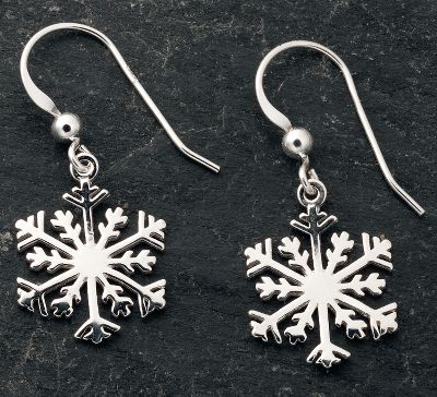 Entertainment Celebrate the season of snow. Earrings are crafted of .925 sterling silver.Dimensions: .7H x .5W x .7D. - $19.99