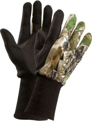 Hunting Keeps you comfortable and camouflaged. Rubber dots on the palms give you a sure grip on your calls and gun. Extended knit cuffs provide extra concealment. One size fits most. Imported.Camo pattern: Realtree APG HD . - $2.88