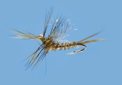 Flyfishing A downwing biot body and bent hook gives this fly the look of a blue-winged olive (BWO) nymph. Per 2. Sizes: 14, 16, 20, 22. Color: Blue-Winged Olive. - $4.79