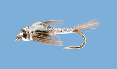 Flyfishing These bead-head tungsten nymphs are ideal for trout. Per 2. Sizes: 14, 16, 18. Colors: Red, Silver, Pearl. Color: Silver. - $2.88
