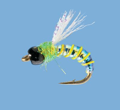 Flyfishing Tungsten bead-head mayfly nymph/emerger works great on trout in moving or standing water. Per 2. Sizes: 10, 14, 18. Colors: Brown, Green, Blue. Color: Green. Type: Nymphs. - $0.88