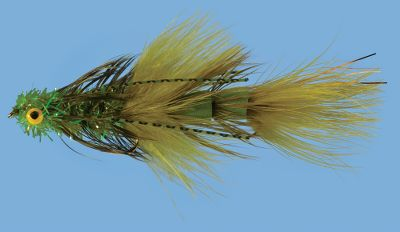 Flyfishing Articulated sculpin patterns work great for catching large trout. Foam cones in the rear help suspend the fly. Per each. Size: 2. Colors: Black, Olive, Cinnamon. Color: Olive. Type: Streamers. - $6.99