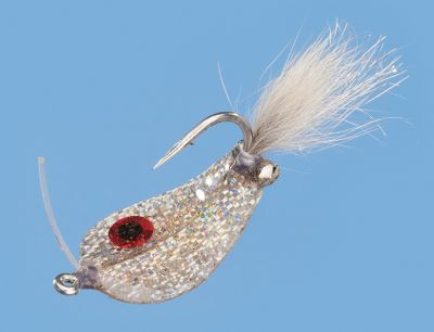 Flyfishing This flashy saltwater spoon attracts strikes with its fluffy tail, a crippled-minnow wobble and a big target-style eye. Proven effective for redfish and sea trout. Per each. Sizes: 1, 1/0. Colors: Silver,Gold. Color: Silver. Type: Saltwater Flies. - $5.69