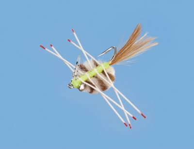 Flyfishing Dominate the flats with a crab-style fly. The legs and tail provide irresistible motion, enticing bonefish, permit and other saltwater species. Per each. Sizes: 2, 4, 6. Type: Saltwater Flies. - $5.29