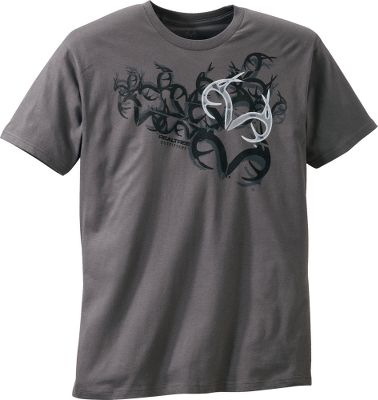 Hunting Loaded with aggressive antler patterns, this sturdy yet comfortable shirt announces your hunting lifestyle. Constructed of 100% cotton jersey. Machine washable. Imported. Sizes: M-2XL.Color: Charcoal. - $17.99