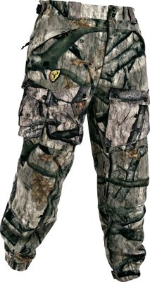 Hunting When Mark and Terry Drury decided to create the ultimate ScentBlocker pants, this was the result. It offers more scent elimination, more versatility and more silence. The activated carbon loading now adsorbs odors at a higher rate and for a longer period between regenerations. ION fleece ensures a deadly cover of silence and is treated with Durable Water Repellency. High-back waist styling for protection from the elements. Double reinforced seat and front knee areas. Quad cargo pockets maximize gear storage, eliminate bulk and allow easy access while sitting. Imported.Sizes: M-2XL.Camo pattern: Mossy Oak Treestand . - $96.88