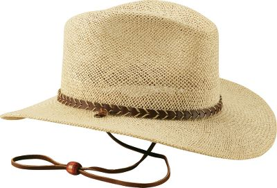 Traditional, sun-blocking outback style. Smooth-textured jute straw. Imported. Sizes: S/M, L/XL.Color: Natural. - $49.99
