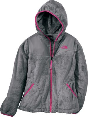 Camp and Hike The classic look and cold-weather performance of a full-zip hoodie meets the incomparable softness and warmth of high-loft, silken polyester fleece in The North Face Girls Oso Hoodie. The fixed hood, encased elastic hem and the elastic-bound cuffs and hand pockets block out cold drafts. Two front zippered pockets. ID label. Imported. Sizes:XS-XL. Colors:Azalea Pink/Parlour Purple, Mint Blue, Metallic Silver/River Green, Parlour Purple, Vibrant Blue. Size: XS. Color: Parlour Purple. Gender: Female. Age Group: Kids. Pattern: Metallic. Material: Fleece. - $78.88