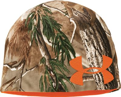 Hunting Camo Under Armour Fleece Beanie reverses for versatility. Soft, warm high-pile fleece lining and smooth fleece shell. Imported.Sizes: S/M, L/XL.Camo patterns/colors: Snow Reaper/Blaze Orange, Mossy Oak Break-Up Infinity/Dynamite. Type: Beanies. Size: S/M. Camo Pattern: MO INFINITY/DYNAMITE. Size S/M. Color Mo Infinity/Dynamite. - $24.99