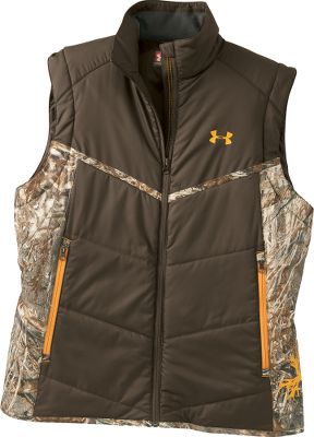 Hunting Lightweight ArmourLoft locks in your body heat to keep you warm without the weight. Exterior is wind- and water-resistant for protection from the elements. The vest packs into its own pocket for easy transport into the field. Layer or wear alone. 100% polyester. Fitted. Imported. Sizes: M-2XL. Camo pattern: Mossy Oak Duck Blind. - $79.99