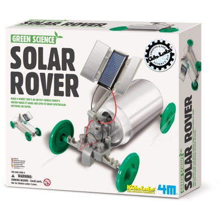 Camp and Hike This fun Solar Rover robot kit from 4M lets your young innovator turn an empty soda can into a solar-powered robot that draws on paper! - $14.93